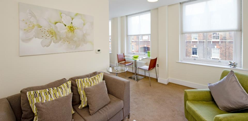 Spitalfields Serviced Apartments - Living Room