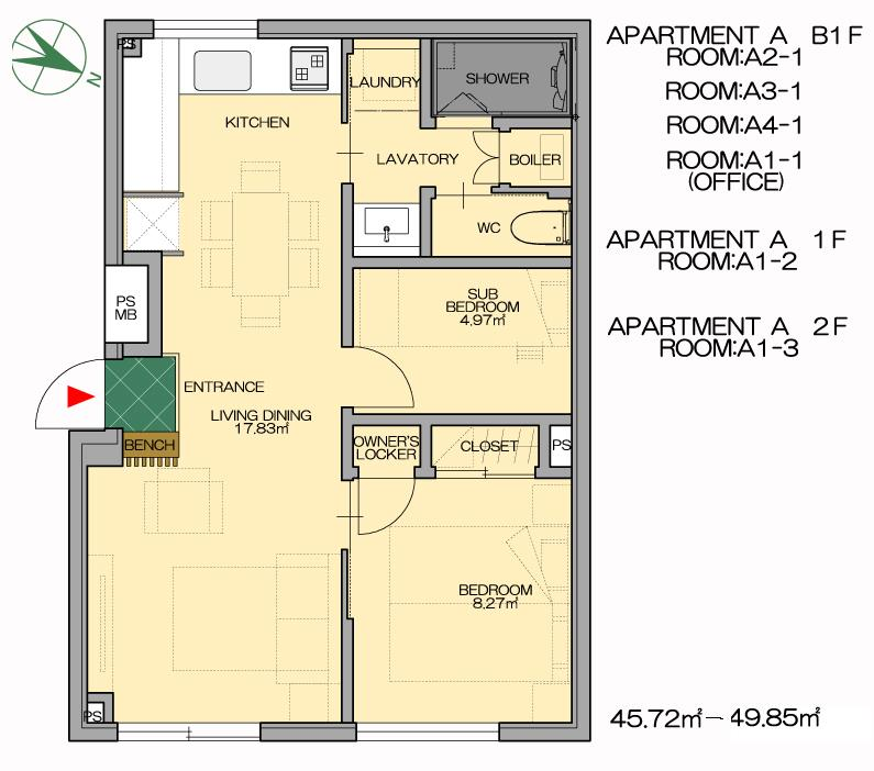 #floorplans Snow Dog Apt A