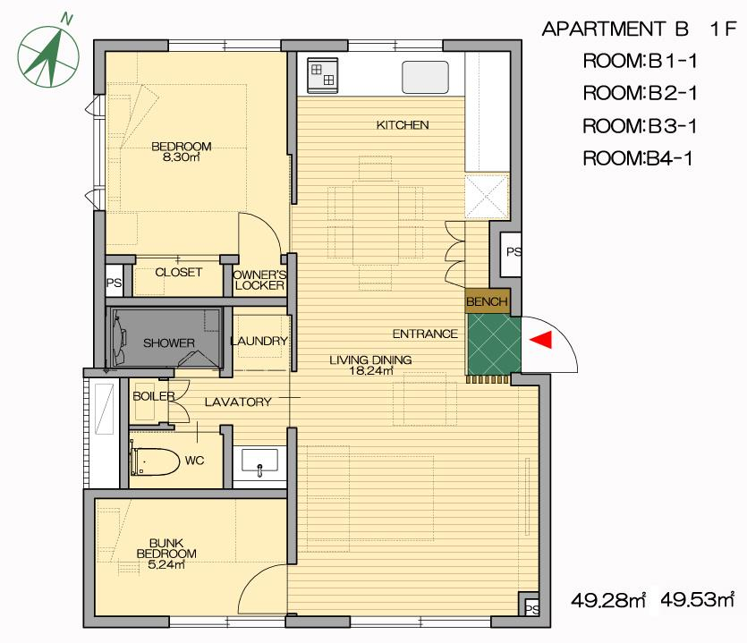 #floorplans Snow Dog Apt B