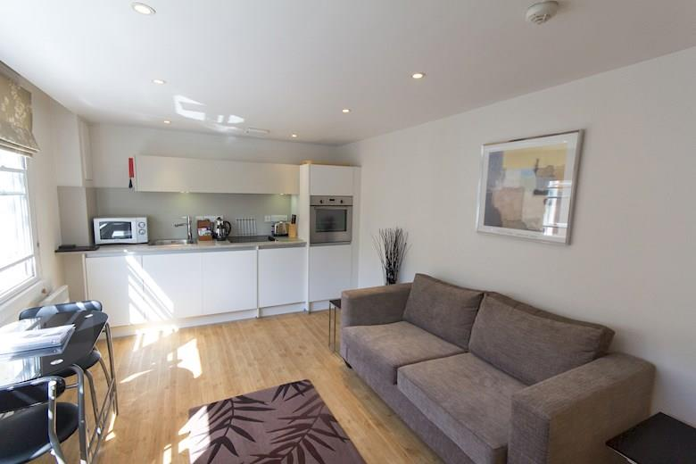 St James Parade - One Bedroom Living Area
