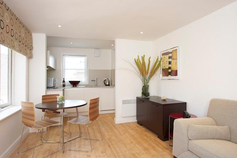 St James Parade - One Bedroom Living Room