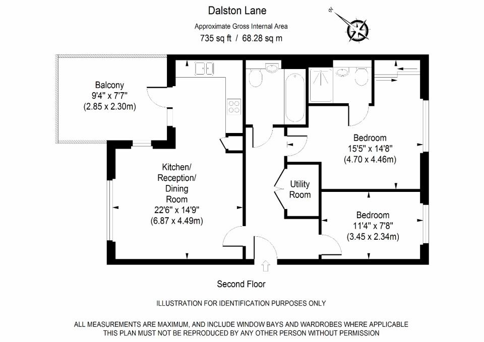 Dalston Works - Two Bedroom Floor Plan