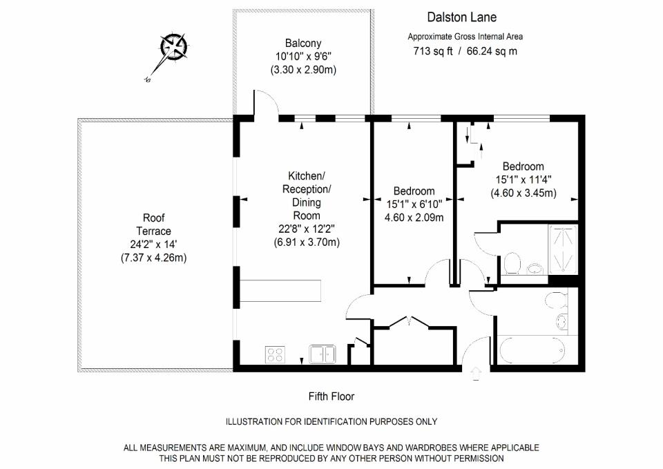 Dalston Works - 5th Floor Floor Plan