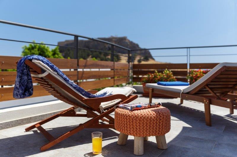 Lindos Aqua Luxury Villa - View from terrace