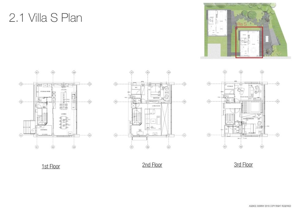 #floorplans 3 Bedroom Villa South Apartment