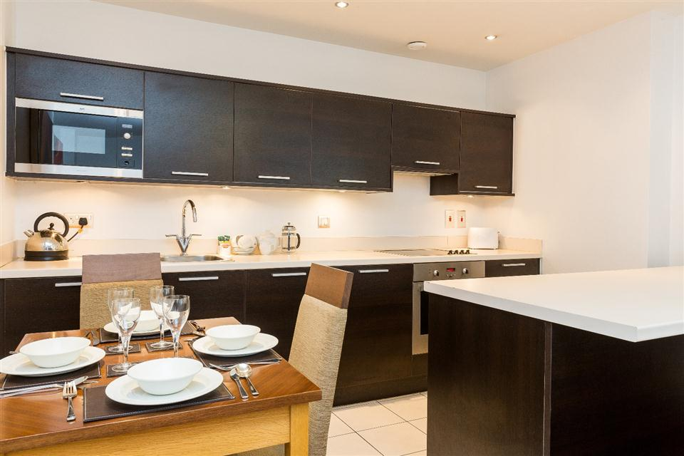 Premier Apartments Manchester Kitchen and Dining