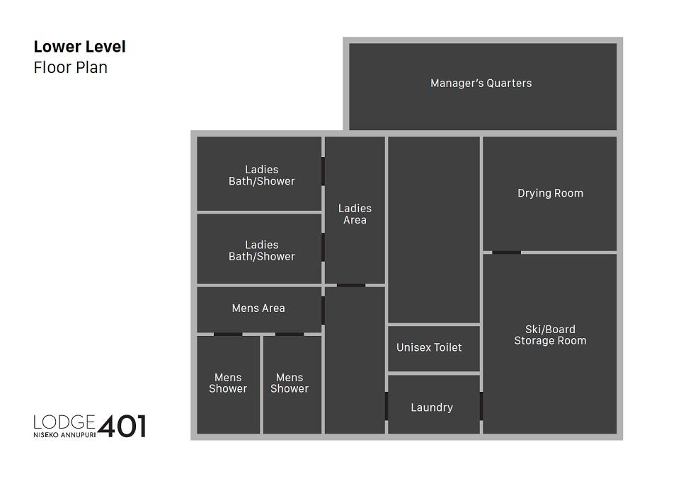 Lodge 401 Floor plan Lower Level