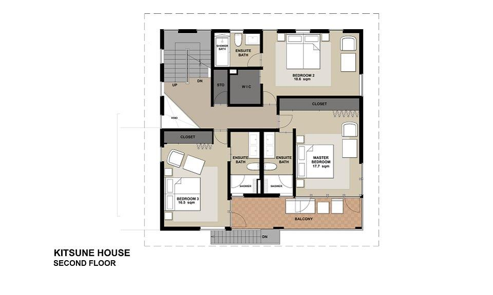 #floorplans Kitsune House 2F