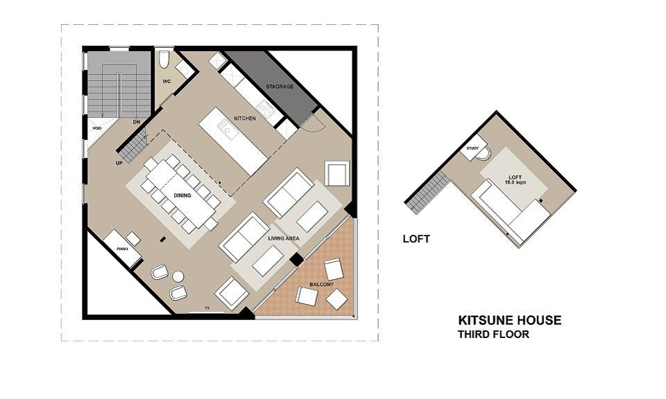 #floorplans Kitsune House 3F