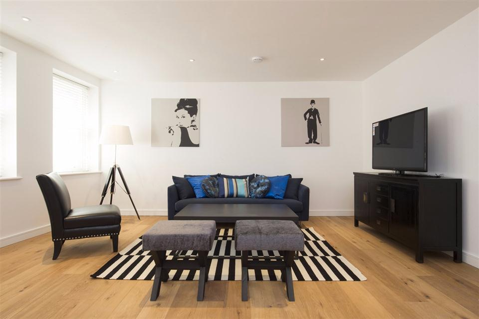 Monument Serviced Apartment Living Area