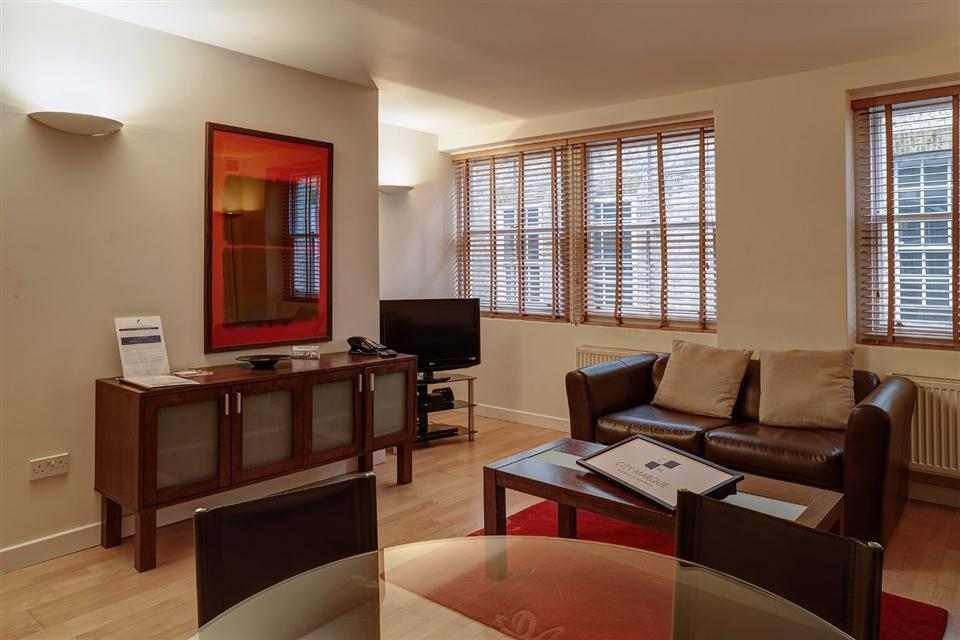 Tower Hill Serviced Apartment Living Area