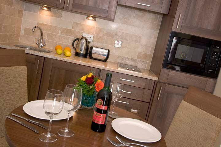 Premier Suites Dublin Leeson Street Kitchen and Dining Area