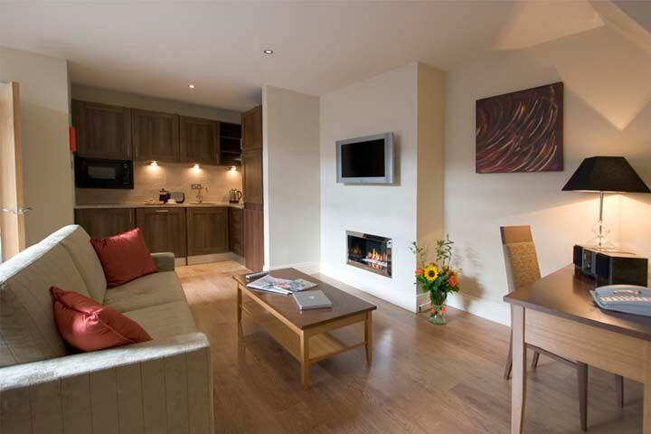 Premier Suites Dublin Leeson Street Living Area