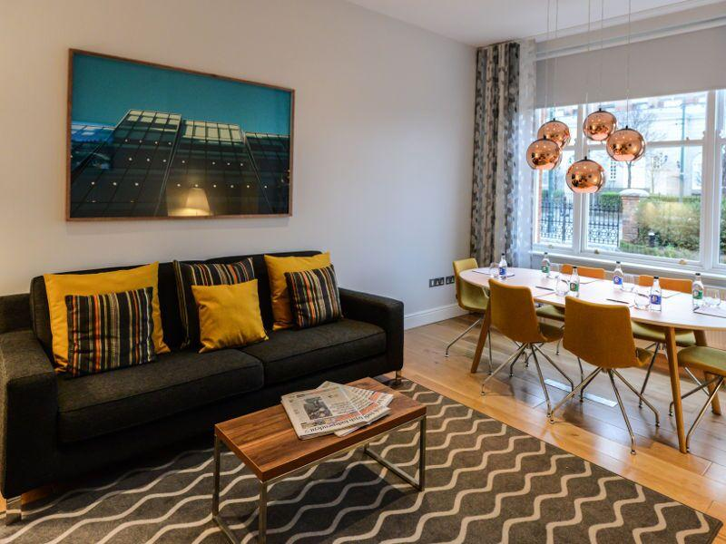 Premier Suites Dublin Ballsbridge Living and Dining Area