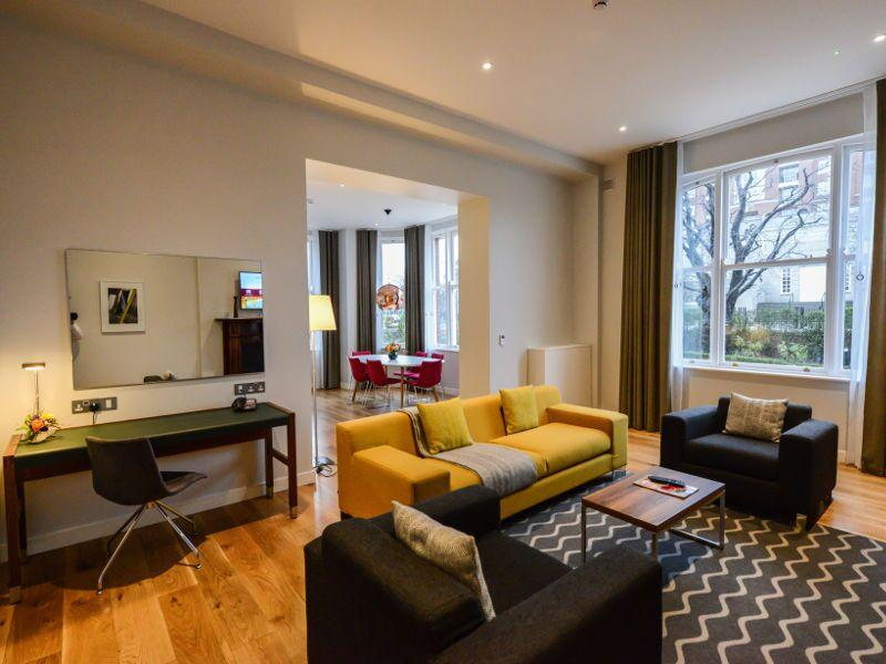 Premier Suites Dublin Ballsbridge Living  Area