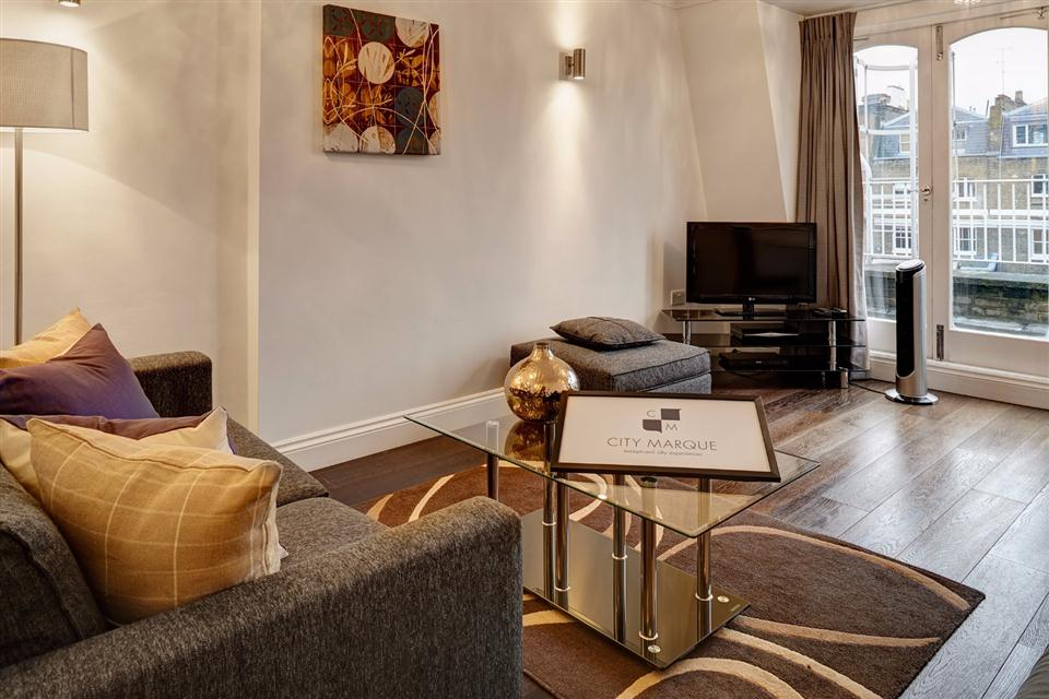 Knightsbridge Serviced Apartment Living Area