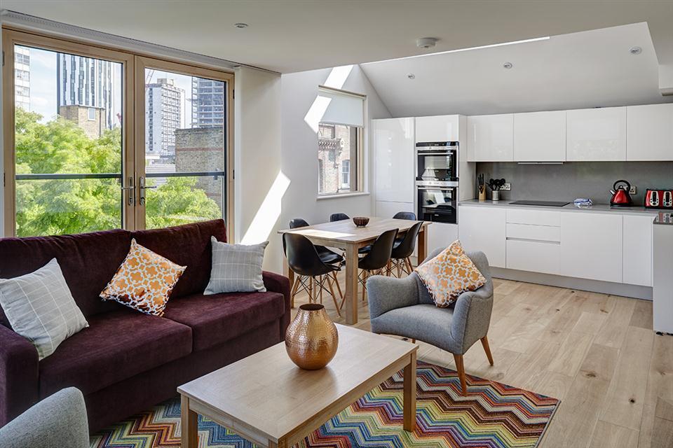 Lambeth North Serviced Apartments Living Area