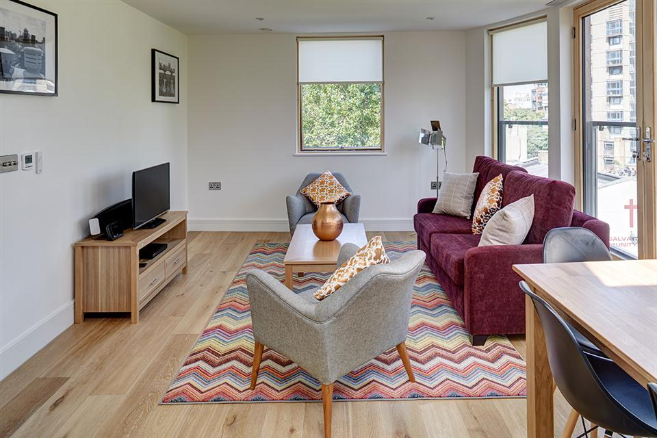 Lambeth North Serviced Apartments Living Area