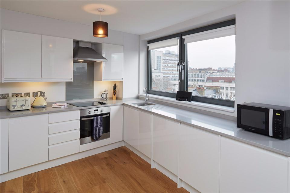 Oxford House Serviced Apartments Kitchen