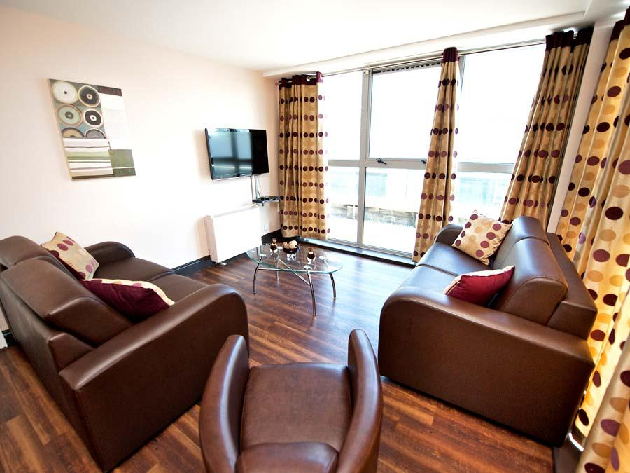 Millennium Walk Apartments - Living Room