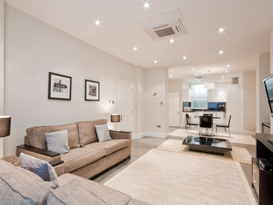 20 Hertford Street One Bedroom Apartment - Living Room