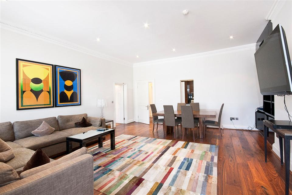 20 Hertford Street Two Bedroom Apartment - Living Room