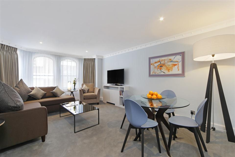 Mayfair House Third Floor Deluxe One Bedroom Apartment - Living and Dining Room