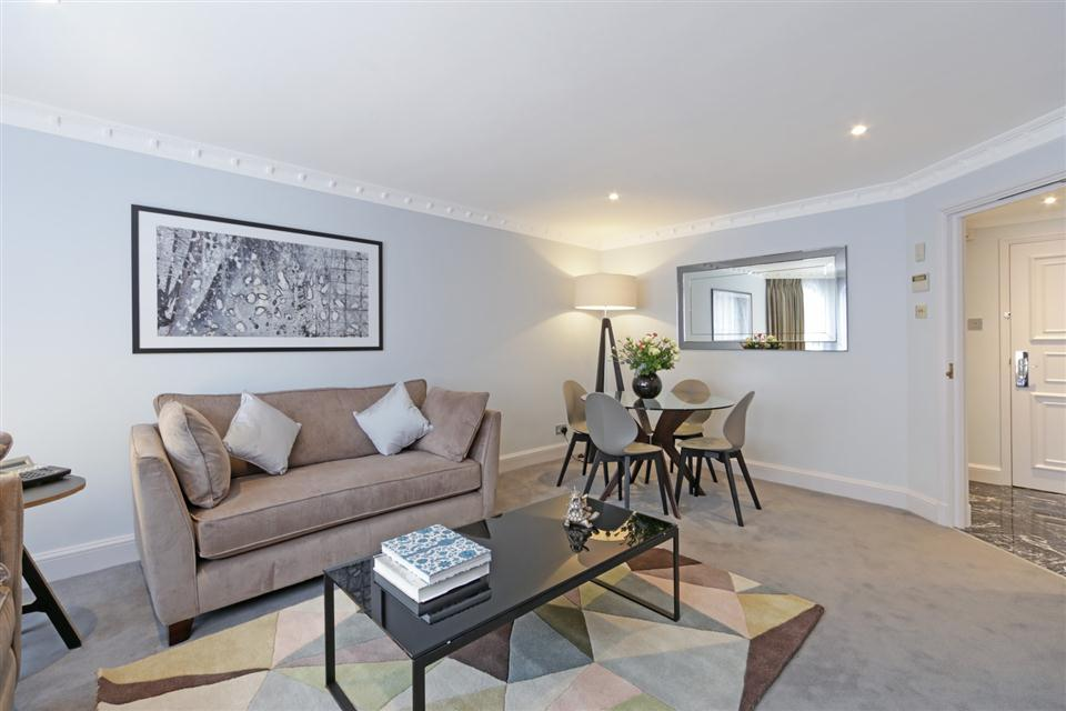 Mayfair House Third Floor Superior One Bedroom Apartment - Living and Dining Room