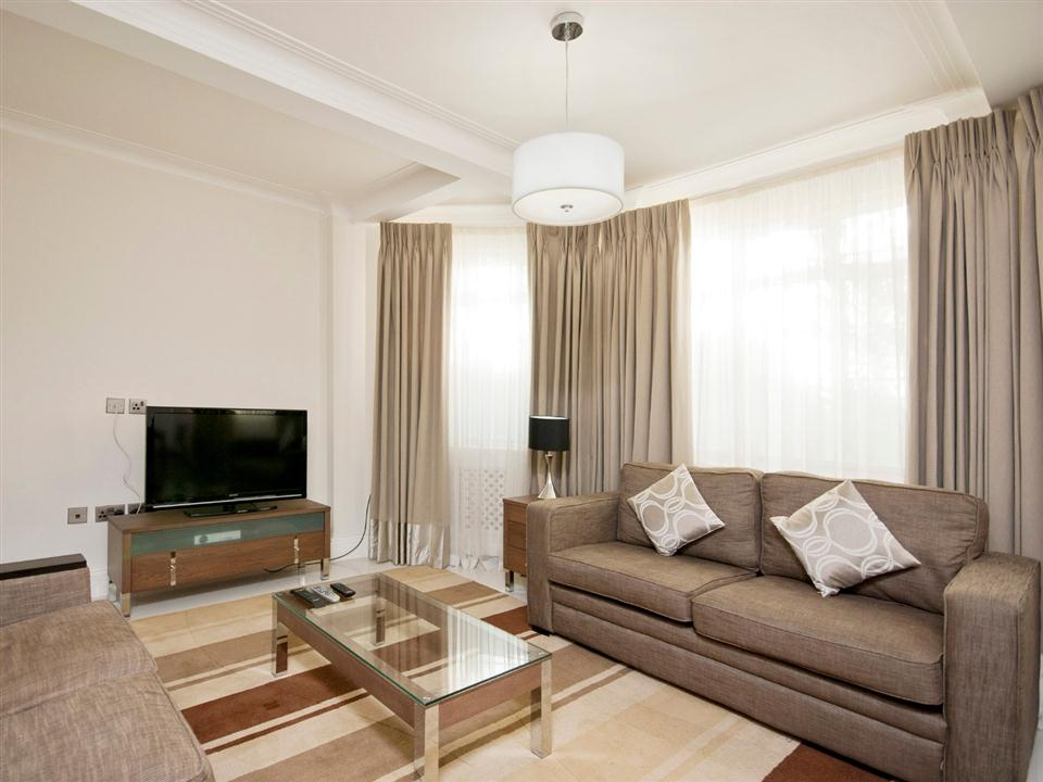 Fountain House Two Bedroom Standard Apartment - Living Room