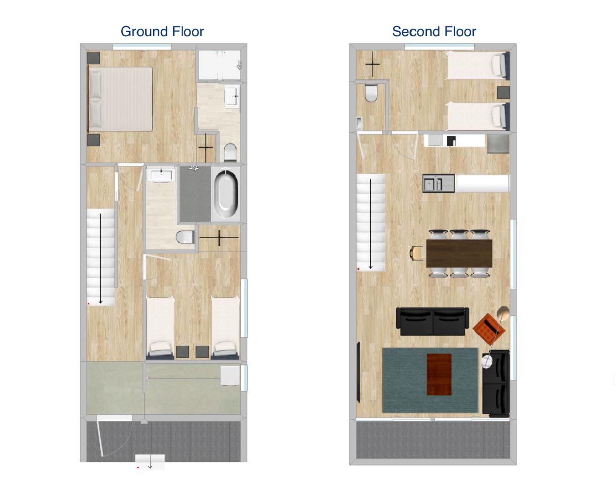 #floorplans 3 Bedroom Chalet