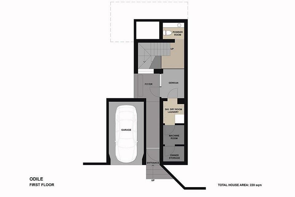 Floor plan Odile-1F