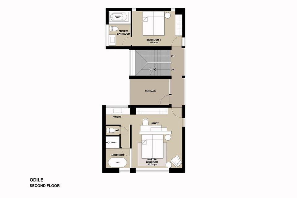Floor plan Odile-2F