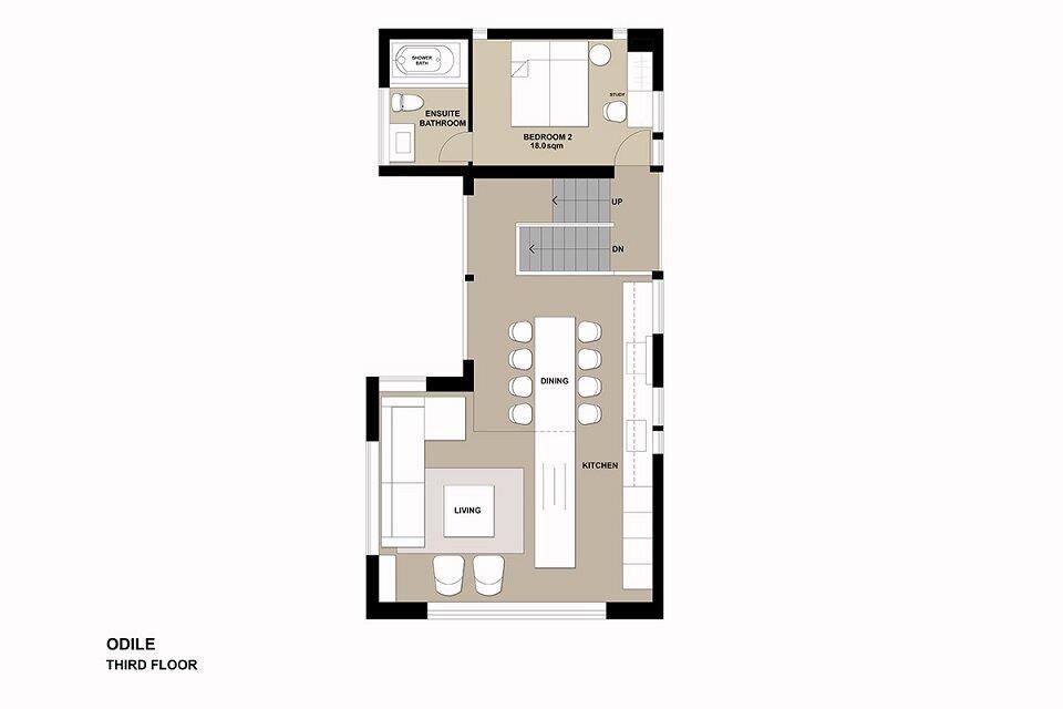 Floor plan Odile-3F