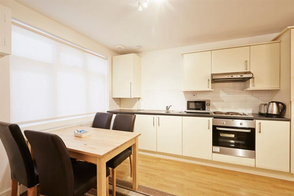 Apple Apartments East London Kitchen and Dining Area