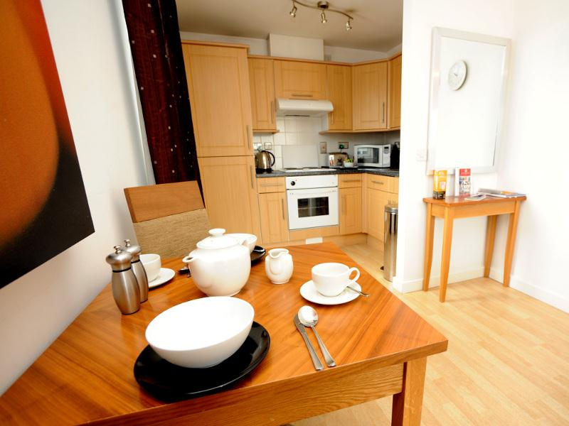 Premier Apartments Birmingham Kitchen and Dining Area
