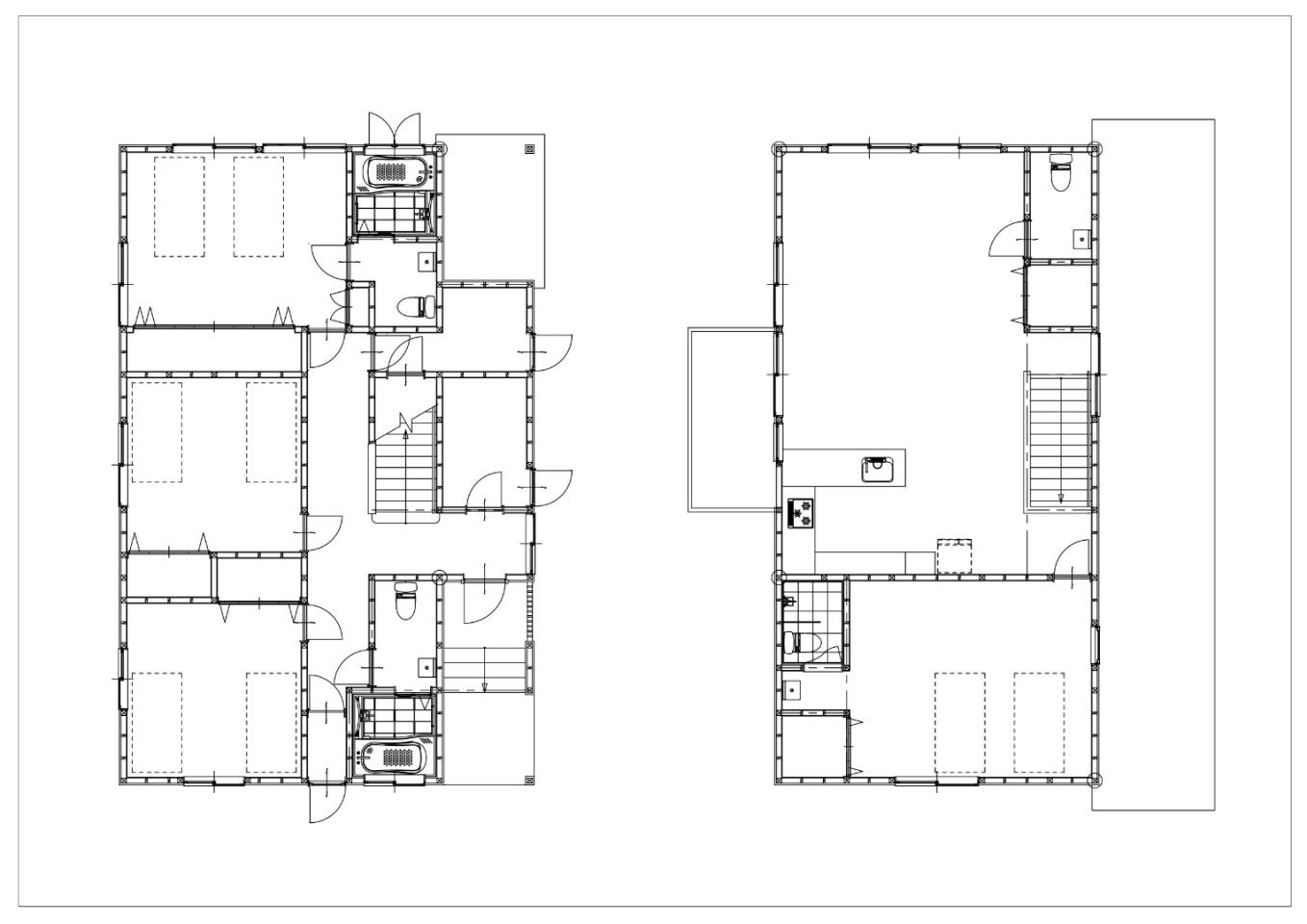 #floorplans 4 Bedroom D & E Chalets