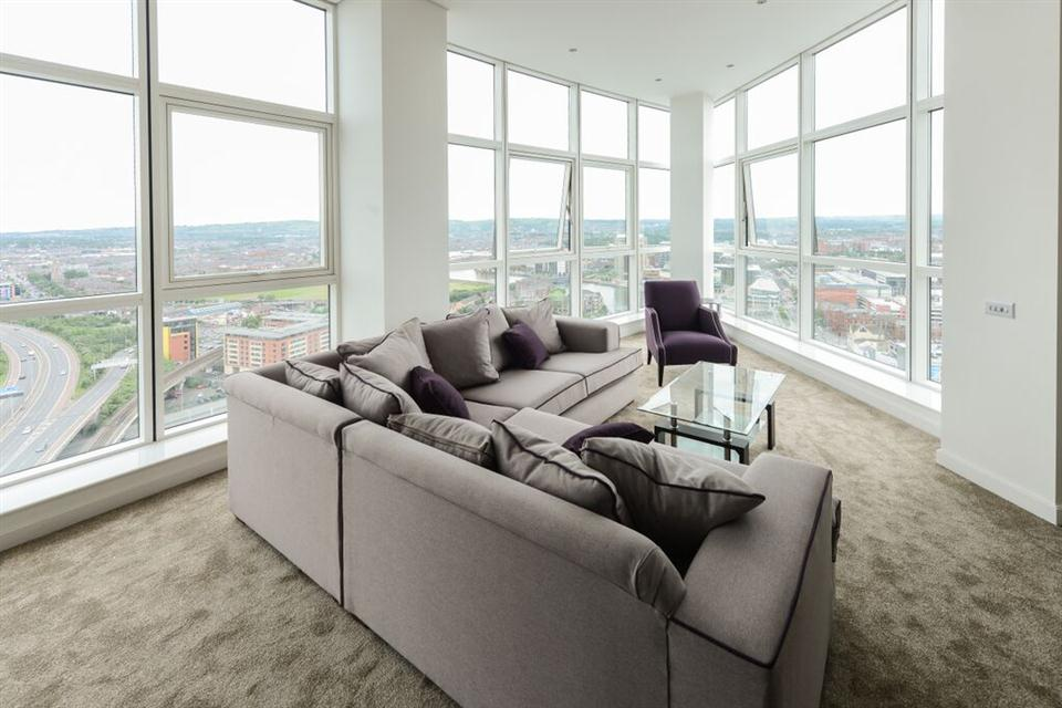 Apple Apartments Belfast Living Area