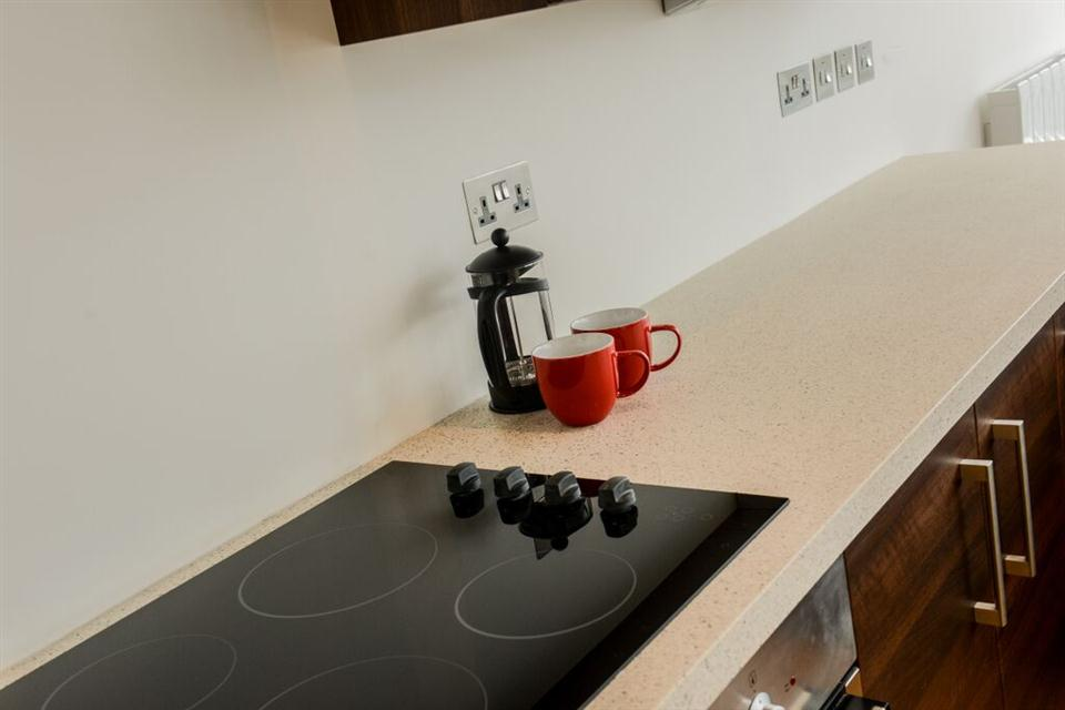 Apple Apartments Belfast Kitchen Area