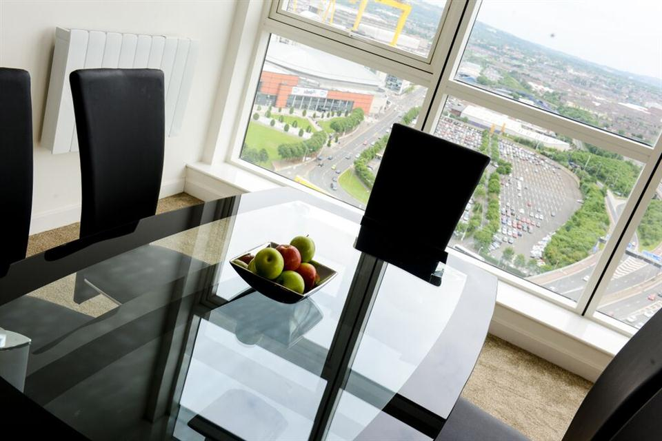 Apple Apartments Belfast Dining Area