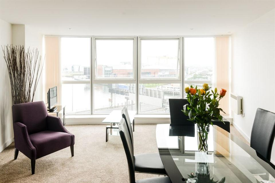 Apple Apartments Belfast Living and Dining Area
