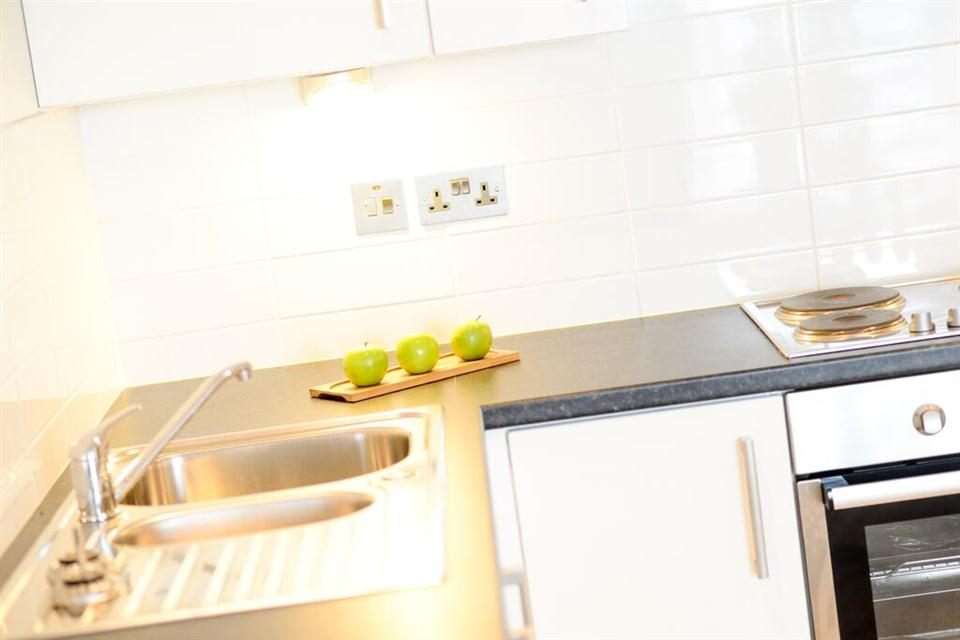Apple Apartments Belfast Kitchen