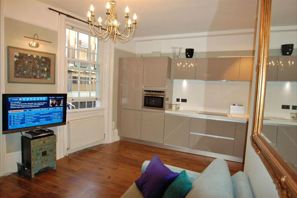 Swinton Apartments Kitchen and Living Area