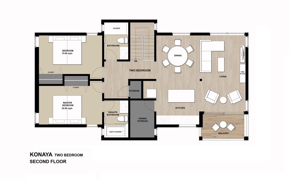 #floorplans Konaya 2bedroom 2F