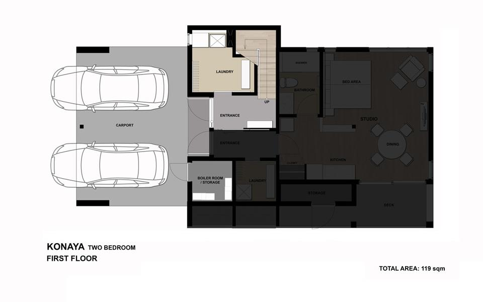 #floorplans Konaya 2bedroom 1F