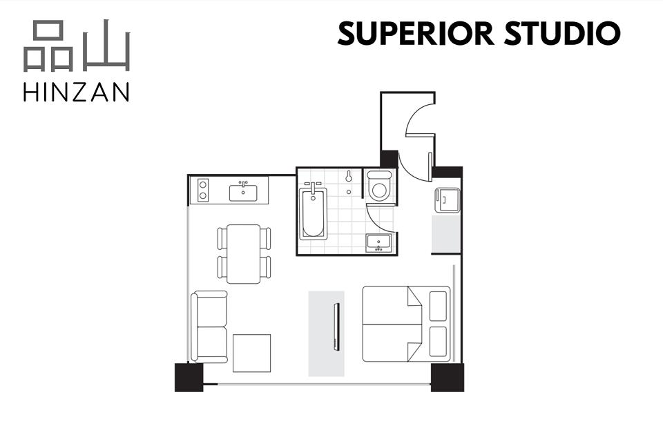 #floorplans Hinzan Superior Studio