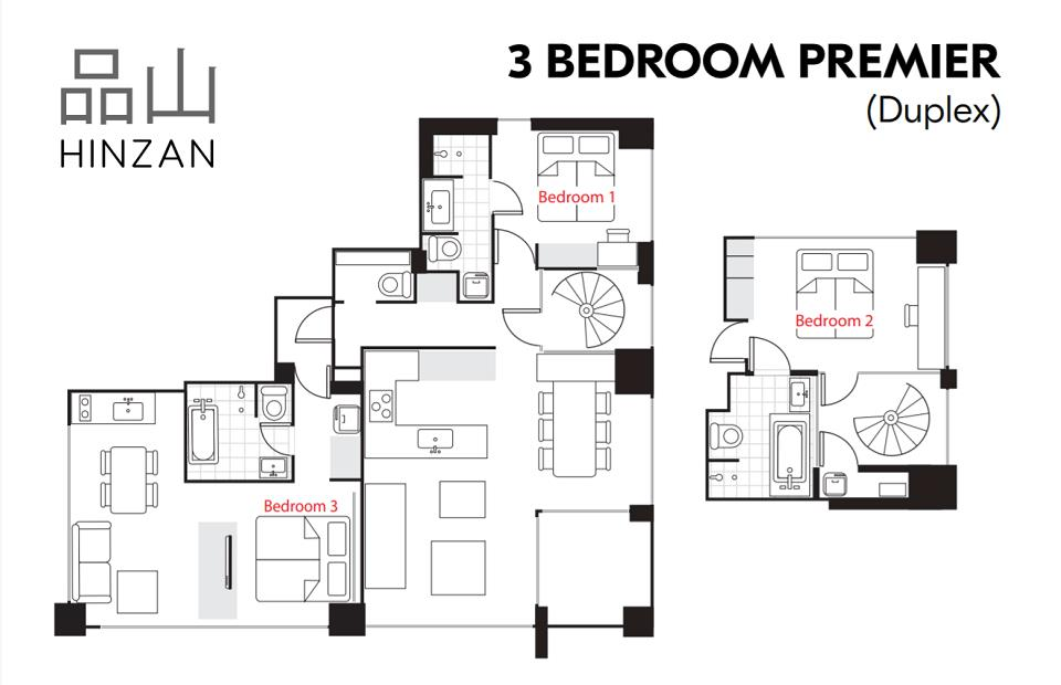 #floorplans Hinzan 3bedroom Premior