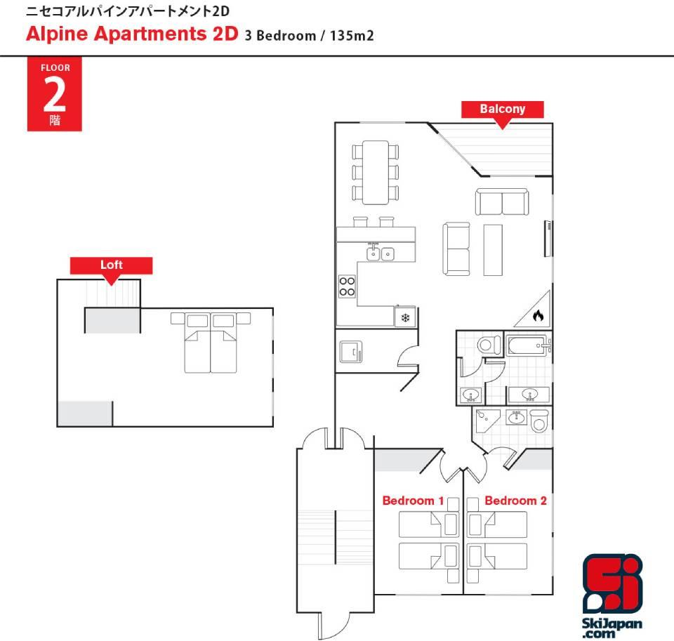 #floorplans Alpine Apartments 2D