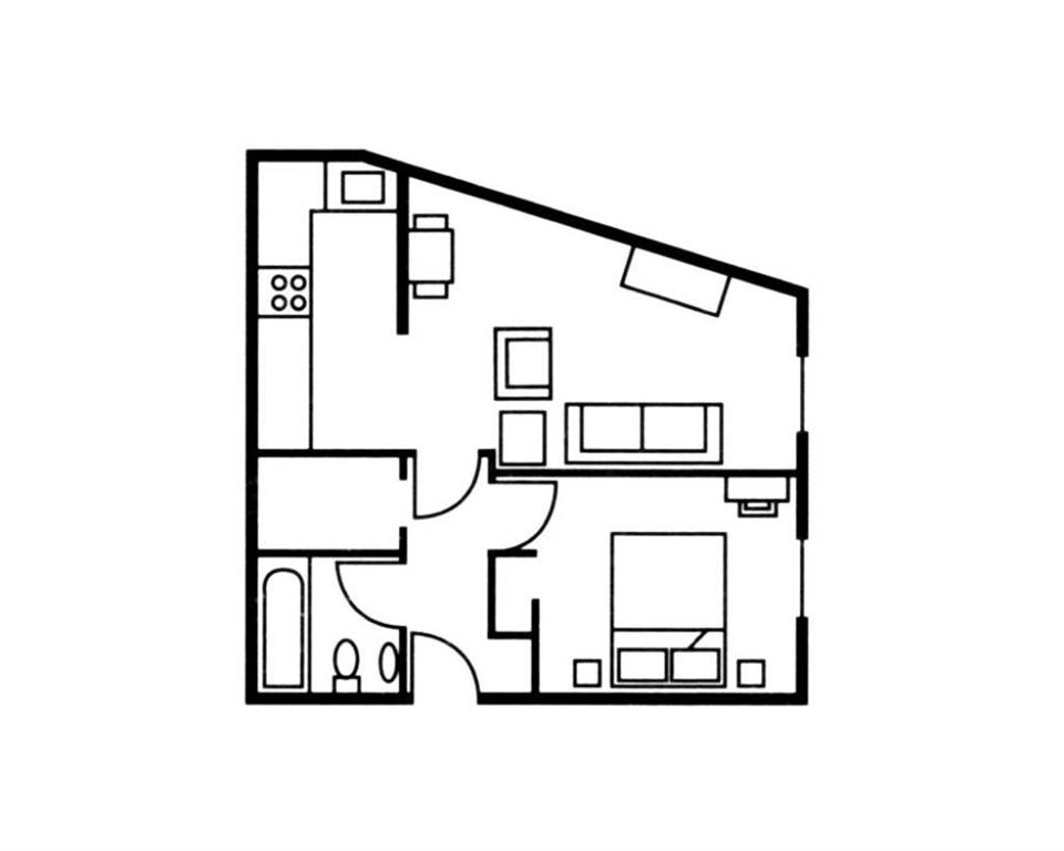 The Knight Residence One Bedroom Floor Plan