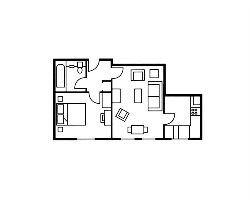 The Knight Residence One Bedroom Superior Floor Plan