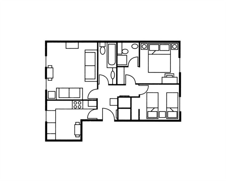 The Knight Residence Two Bedroom Floor Plan